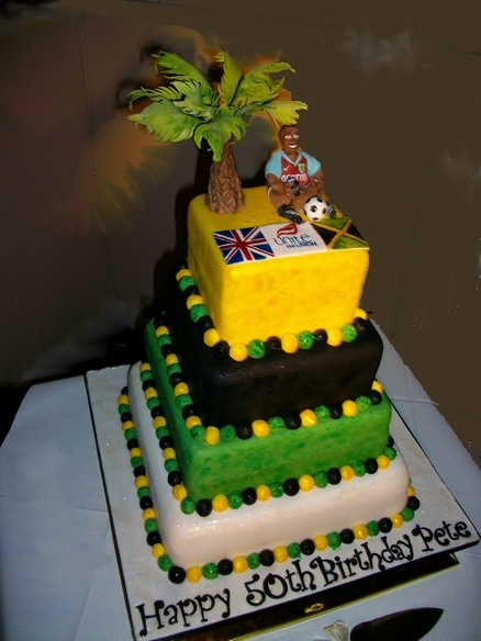 Jamaican Themed Birthday Cake